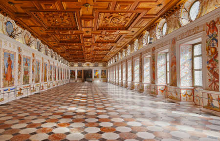 vintage mansion: Interior in Palace of Ambras - Innsbruck Austria