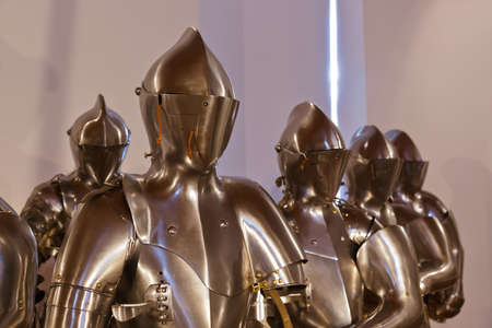 crusader: Armour of the medieval knight in Ambras Palace - Innsbruck Austria