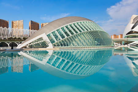 futuristic city: Modern Architecture in the City of Arts and Sciences - Valencia Spain Editorial