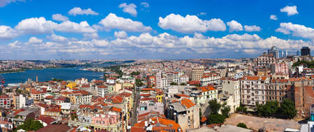 bosphorus: Istanbul Turkey panorama - architecture travel background Stock Photo