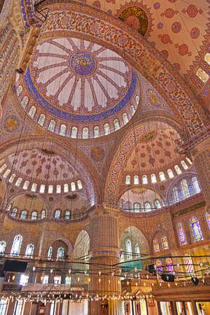 blue mosque: Blue mosque interior in Istanbul Turkey - architecture religion background
