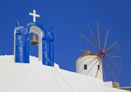 Santorini symbols, Greece - vacation background photo
