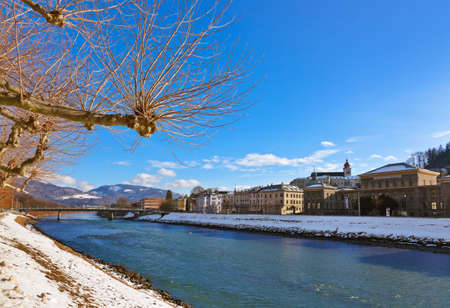 River in Salzburg Austria - travel background