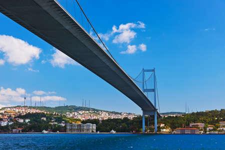 bosphorus: Bosphorus bridge in Istanbul Turkey - connecting Asia and Europe