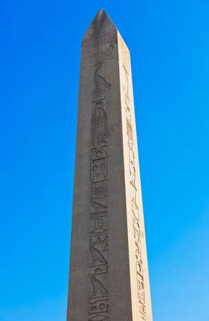 Egypt obelisk at Ancient Hippodrome in Istanbul Turkey photo