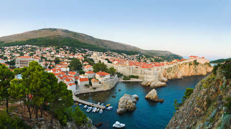 Panorama of Dubrovnik, Croatia - architecture background