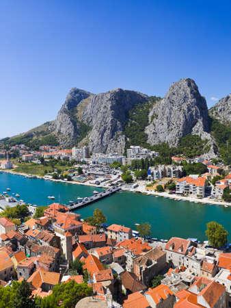 croatia dubrovnik: Town Omis in Croatia - travel background