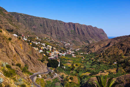san sebastian: Road in La Gomera island - Canary Spain Stock Photo