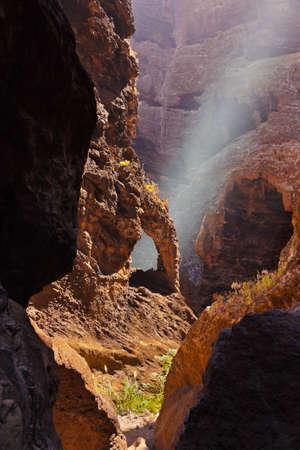 ravine: Famous canyon Masca at Tenerife island - Canary Spain