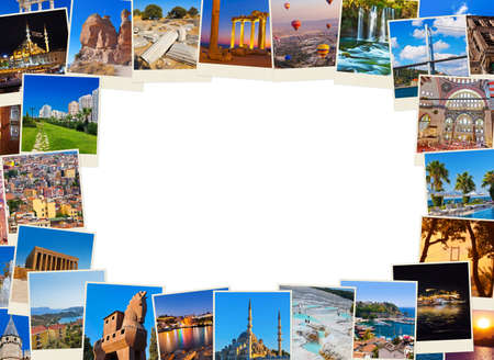 istanbul beach: Frame made of Turkey travel images - nature and architecture background  my photos