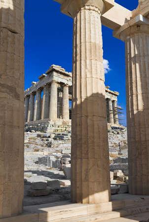 Entrance to Acropolis at Athens, Greece - travel background photo