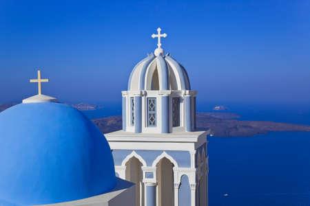 firostefani: Santorini church  Firostefani  - vacation background