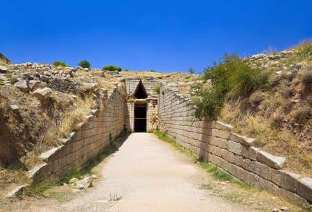 Treasury in Mycenae town, Greece - archaeology background photo