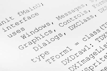 extensible: Printed computer code - technology background