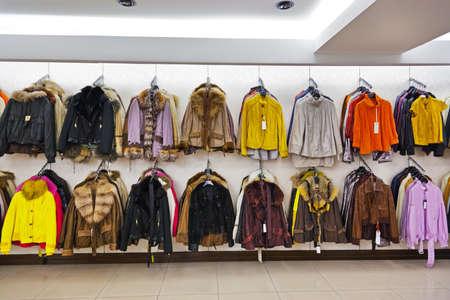 luxury goods: Clothing shop - fashion shopping background