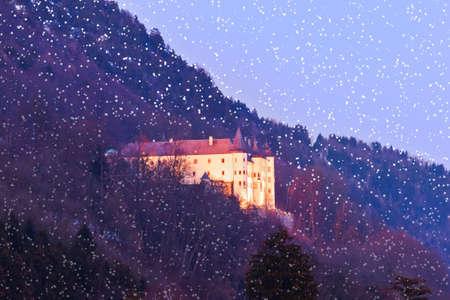 Tratzberg Castle in Tirol Austria - architecture and travel background