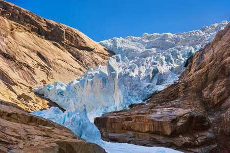 Briksdal glacier - Norway - nature and travel background Zdjęcie Seryjne