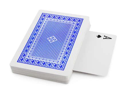 Baraja de cartas aisladas sobre fondo blanco Foto de archivo - 22877445