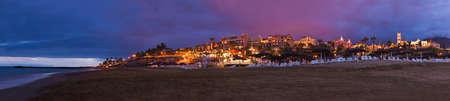 Las Americas Beach sull'isola di Tenerife - Spagna Canarie Archivio Fotografico