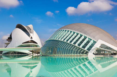 Modern Architecture in the City of Arts and Sciences - Valencia Spain Редакционное