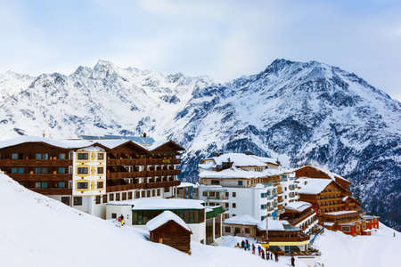 Mountains ski resort Solden Austria - nature and architecture
