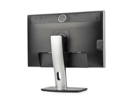 コンピューター モニター背面に分離ホワイト バック グラウンドを表示します。