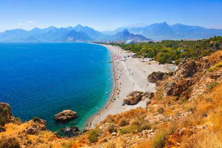 トルコのアンタルヤでビーチ - 旅行の背景