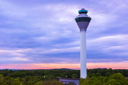 Flight control tower in Airport at Kuala Lumpur (Malaysia) - transportation background Éditoriale