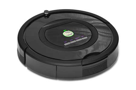 Roboter-Staubsauger isoliert auf weißem Hintergrund Standard-Bild - 34204602