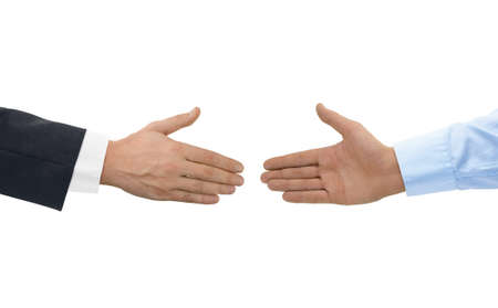 Two hands before handshake isolated on white background Фото со стока - 34455091