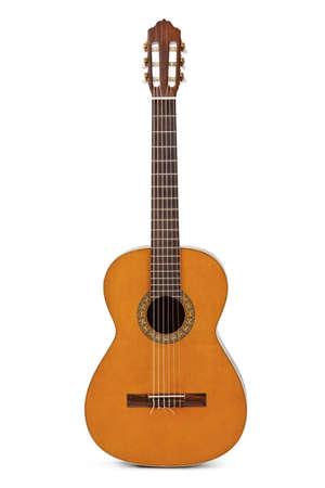 Akoestische gitaar geïsoleerd op witte achtergrond  Stockfoto - 36181245