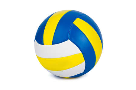 Volleyball ball isolated on a white background Zdjęcie Seryjne