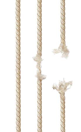 白い背景で隔離のロープのセット