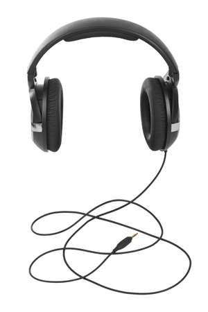 흰 배경에 고립 된 헤드폰 스톡 콘텐츠