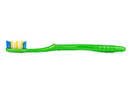 白い背景で隔離の歯ブラシ