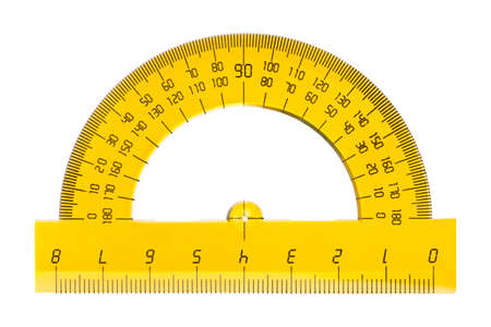 Protractor ruler isolated on white background