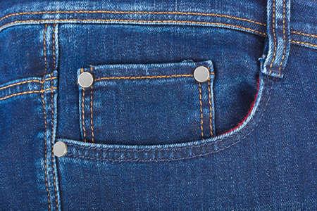 Zak op jeans - mode-achtergrond Stockfoto