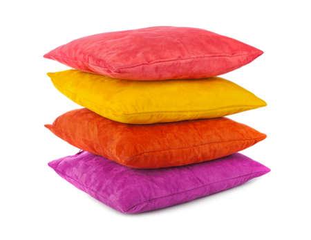 Decorative pillows isolated on white background Standard-Bild