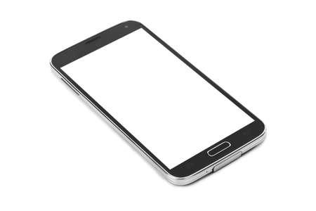 Smartphone isolé sur fond blanc Banque d'images - 46637518
