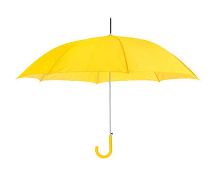Opened umbrella isolated on white background