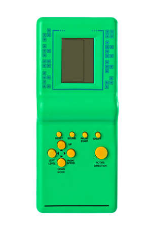 Electronic tetris game isolated on white background Standard-Bild