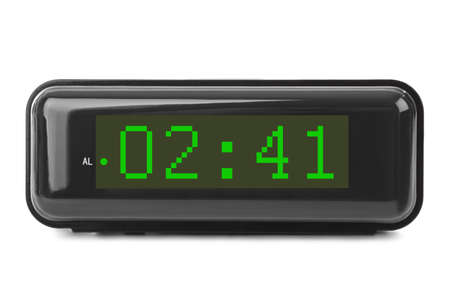 Digital clock isolated on white background Imagens