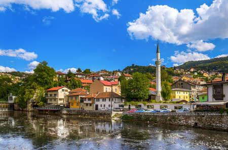Old town Sarajevo - Bosnia and Herzegovina - architecture travel background Editorial