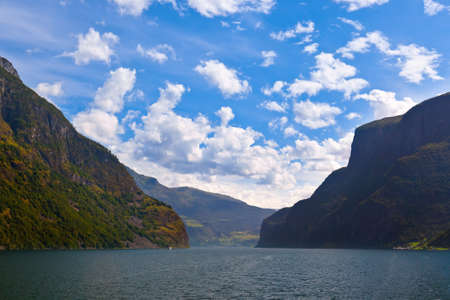 Fjord Naeroyfjord in Norway