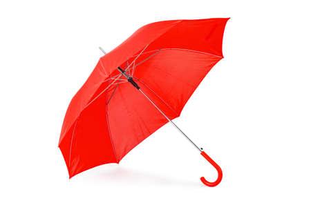 흰색 배경에 고립 된 오픈 우산