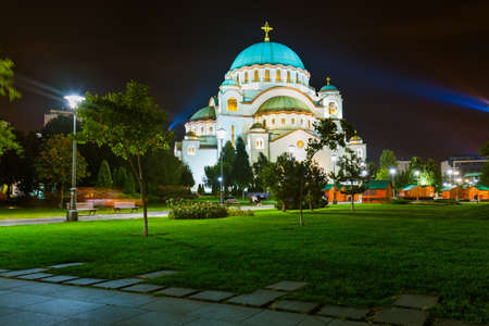 St. Sava-Kathedrale - Belgrad - Serbien - Architektur Reisen Hintergrund