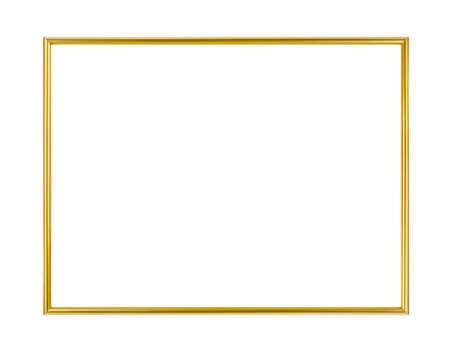 Metal frame isolated on white background