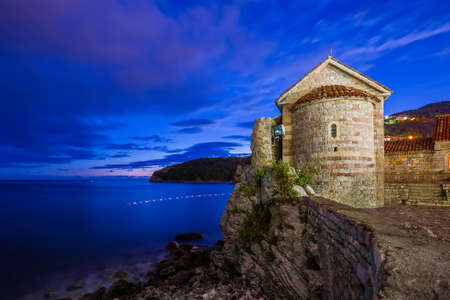 Old Town in Budva Montenegro - architecture travel background