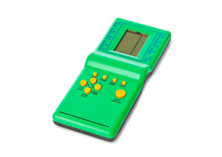Electronic tetris game isolated on white background Foto de archivo