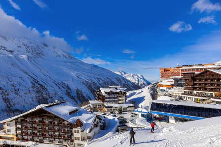 Mountain ski resort in Hochgurgl Austria Foto de archivo